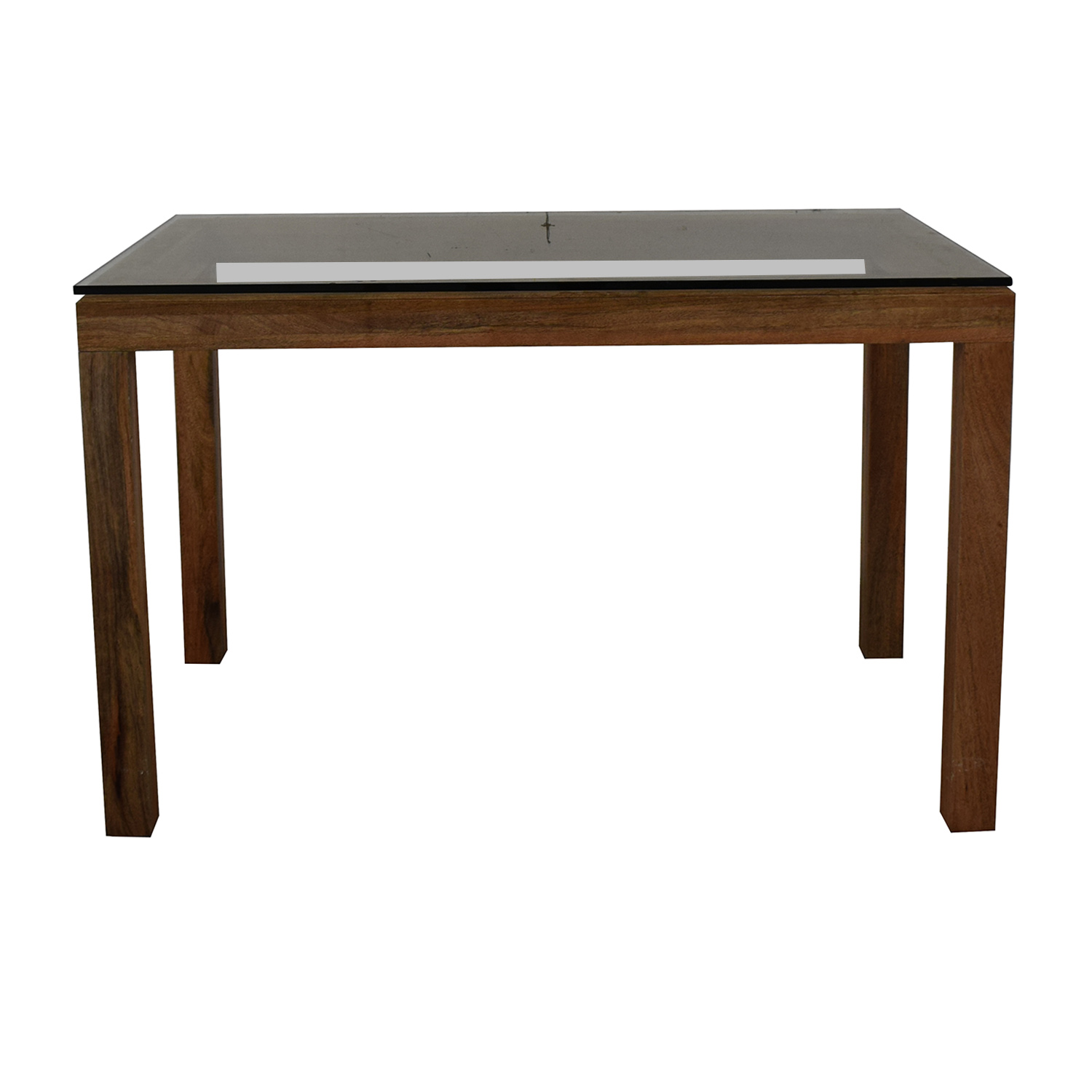 West Elm West Elm Glass Top Table on sale