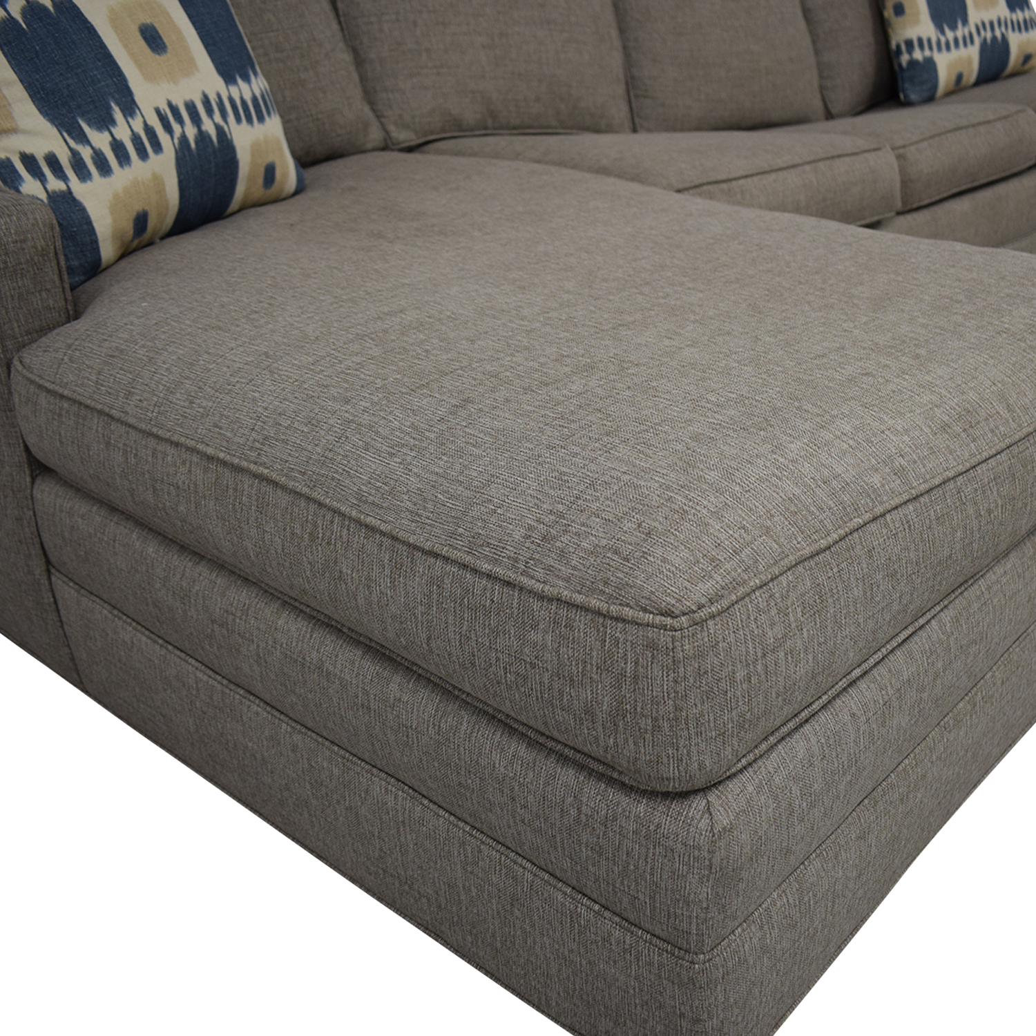 buy Vanguard Furniture Left Chaise Queen Sleeper Sofa Vanguard Furniture
