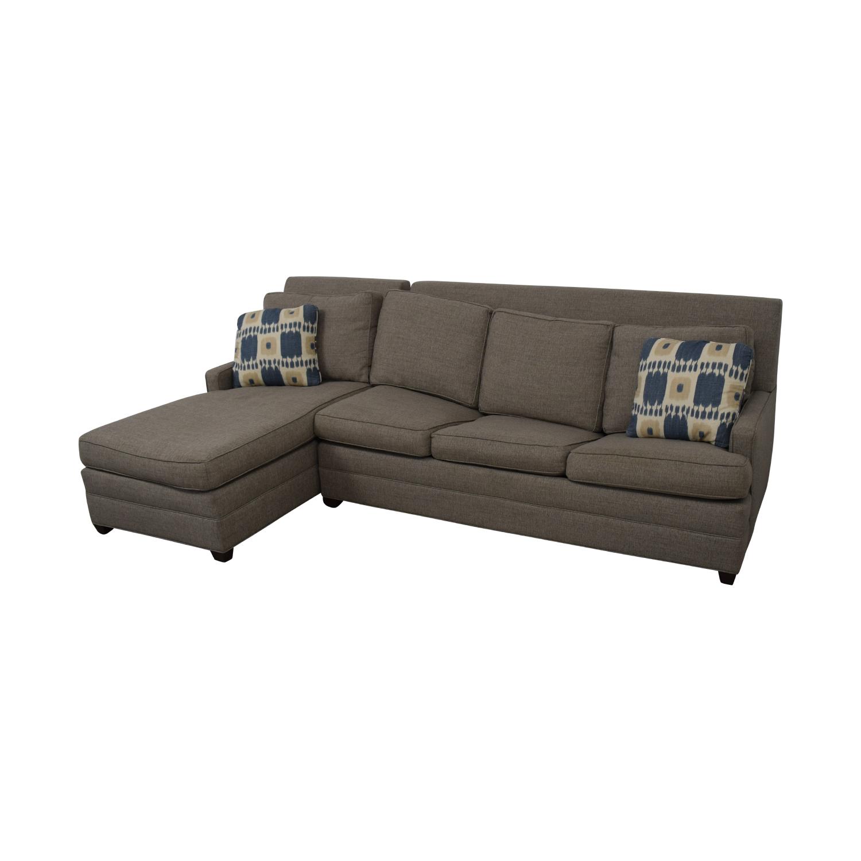 shop Vanguard Furniture Vanguard Furniture Left Chaise Queen Sleeper Sofa online