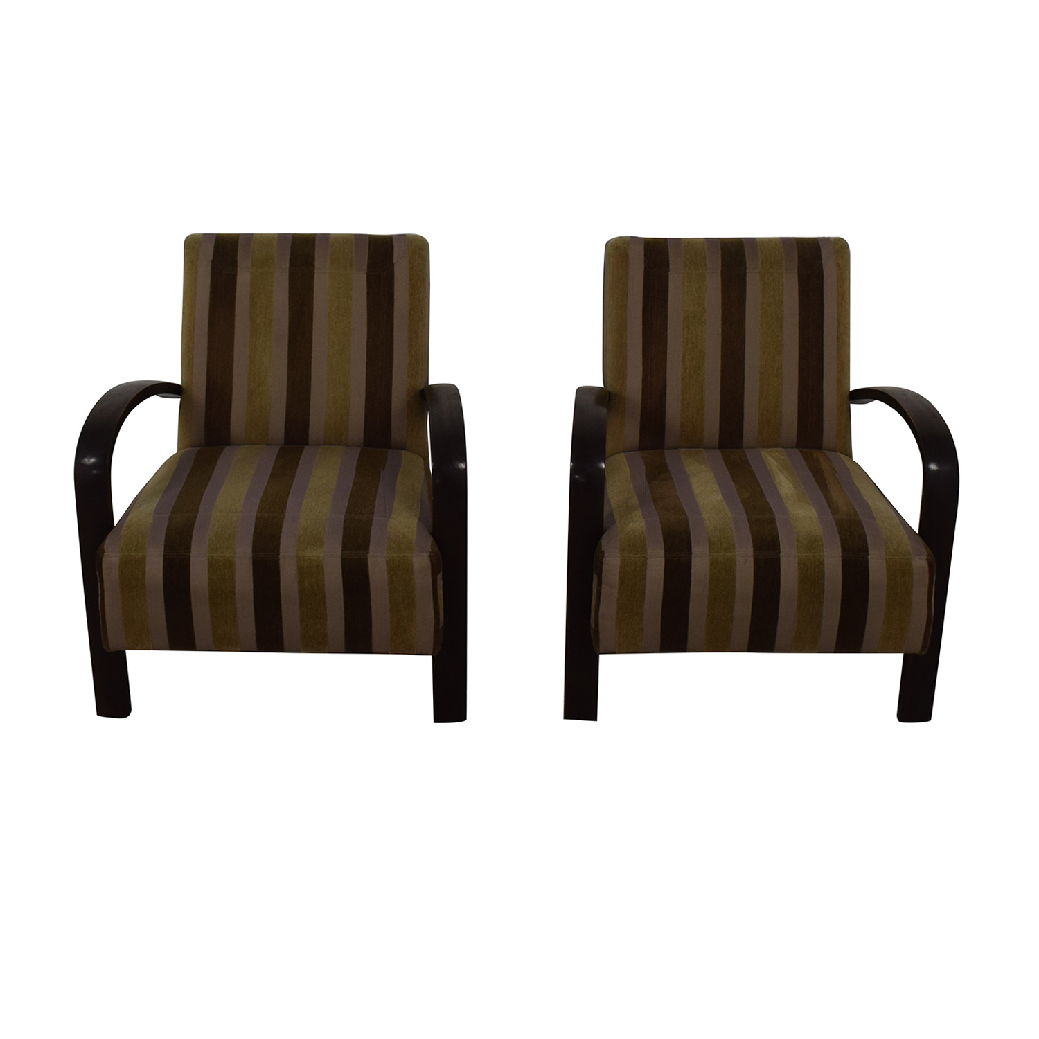 Brown Striped Accent Chairs price