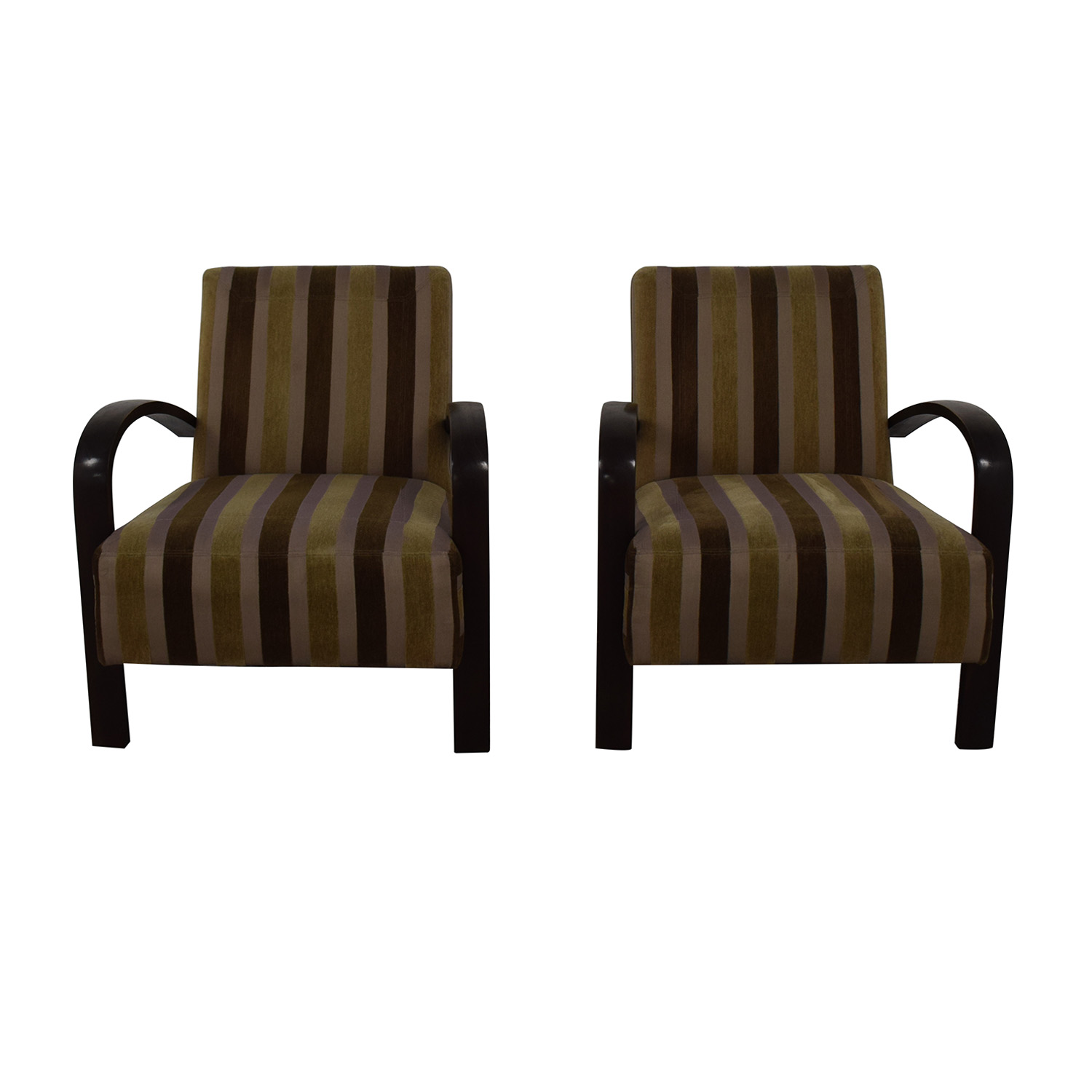 buy Brown Striped Accent Chairs  Chairs