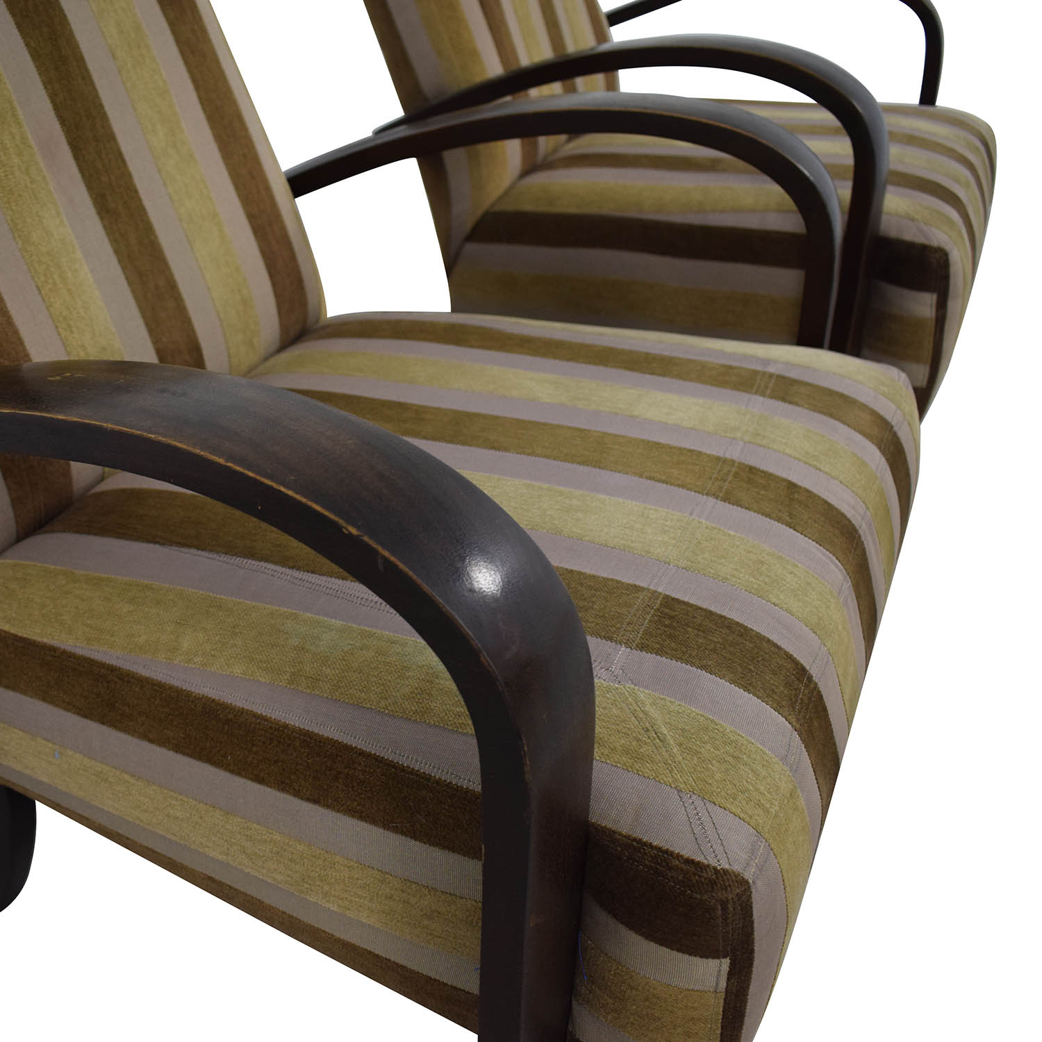 Brown Striped Accent Chairs Chairs