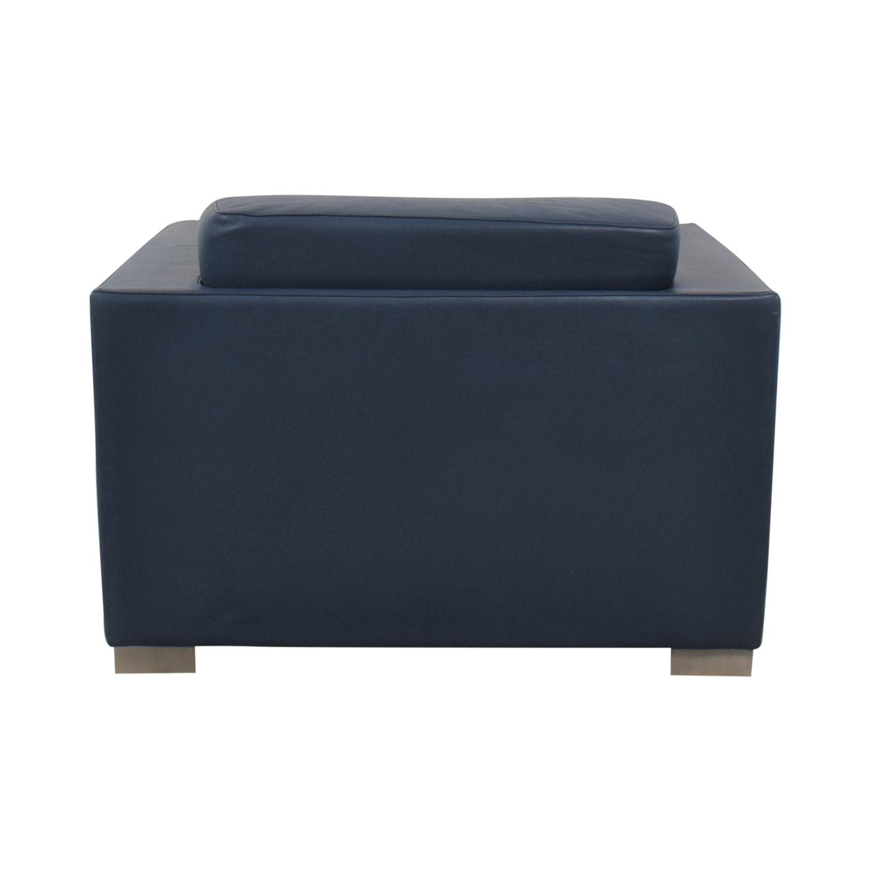 Bernhardt Bernhardt Design Blue Leather Arm Chair Chairs