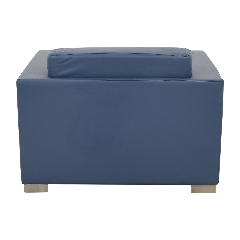 85 Off Bernhardt Bernhardt Design Blue Leather Arm