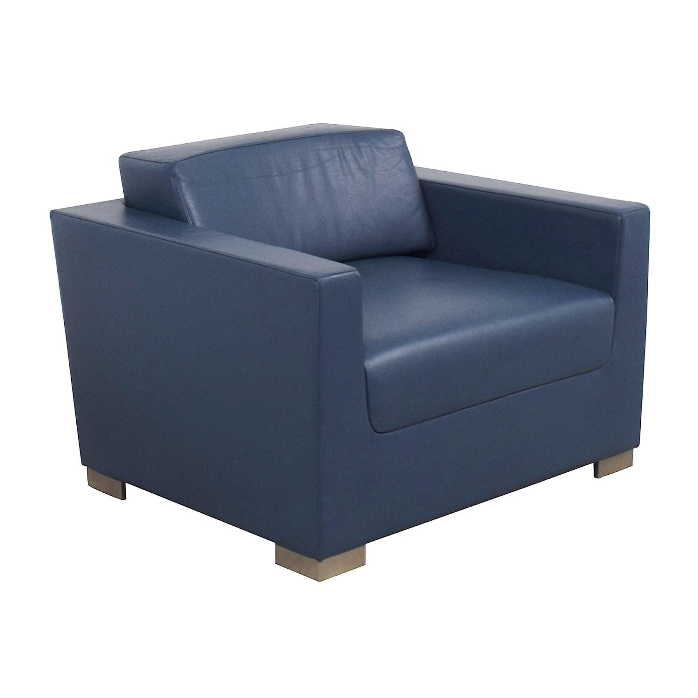 shop Bernhardt Bernhardt Design Blue Leather Arm Chair online