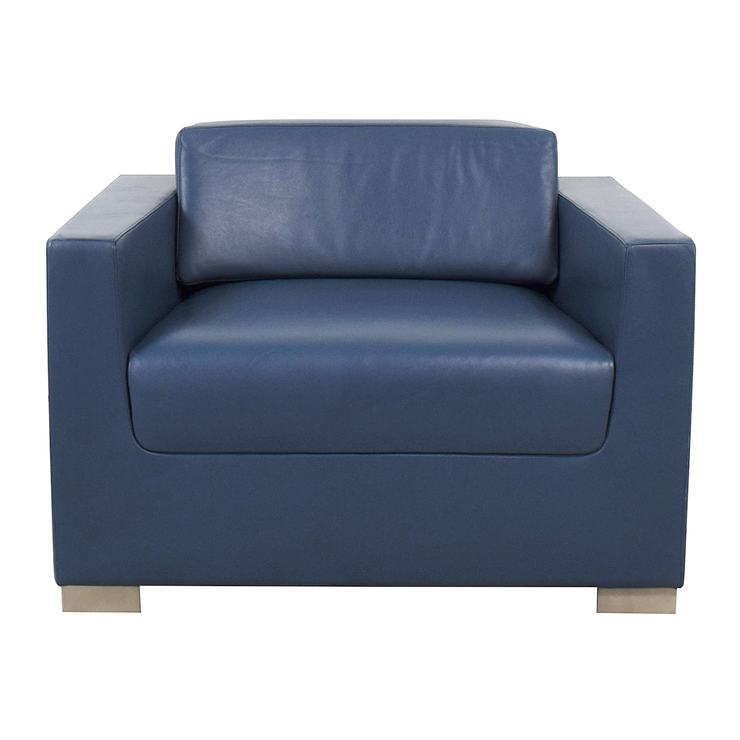 shop Bernhardt Bernhardt Design Blue Leather Arm Chair online