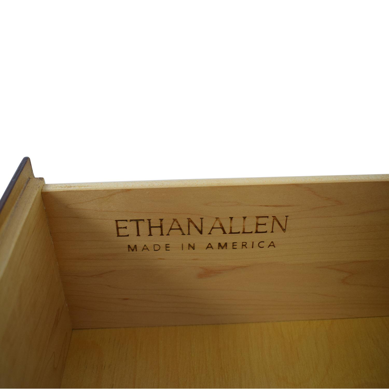Ethan Allen Six-Drawer Dresser With Glass Top Ethan Allen