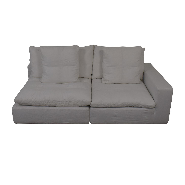 Restoration Hardware Left Arm Modular Sofa sale