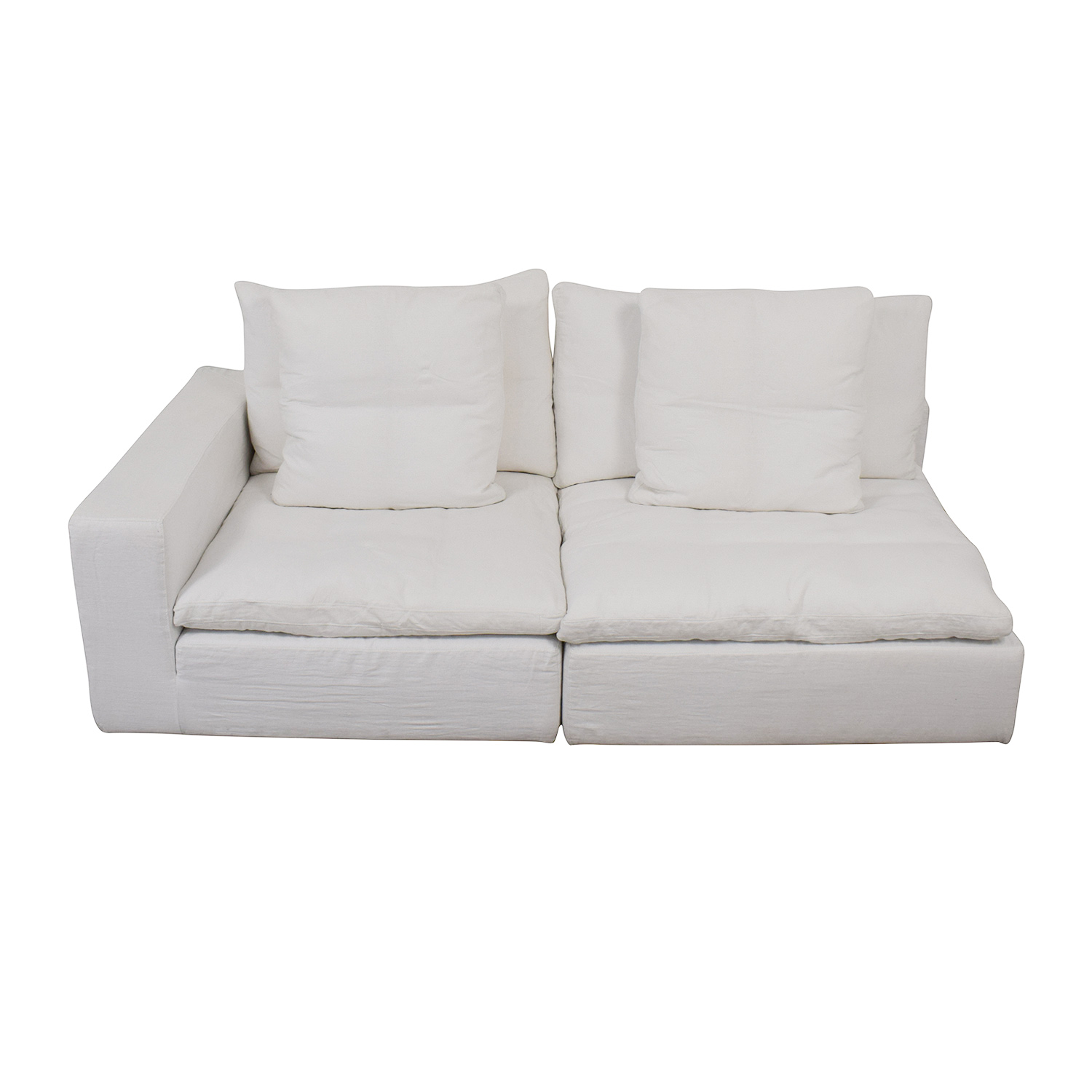 shop Restoration Hardware Cloud Modular Corner Chair and Armless Chair Restoration Hardware Sectionals