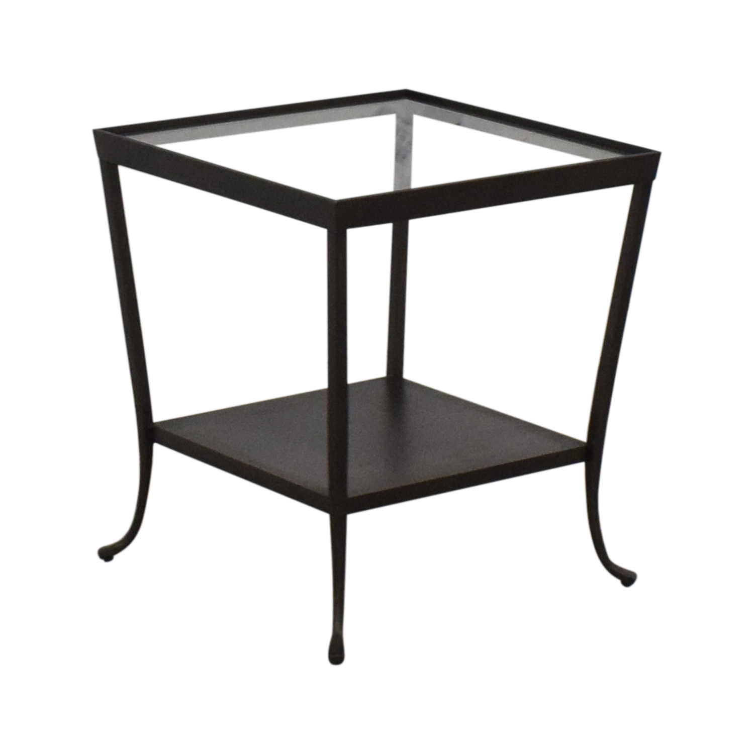 Crate & Barrel Crate & Barrel Square Glass & Metal Accent End Table coupon