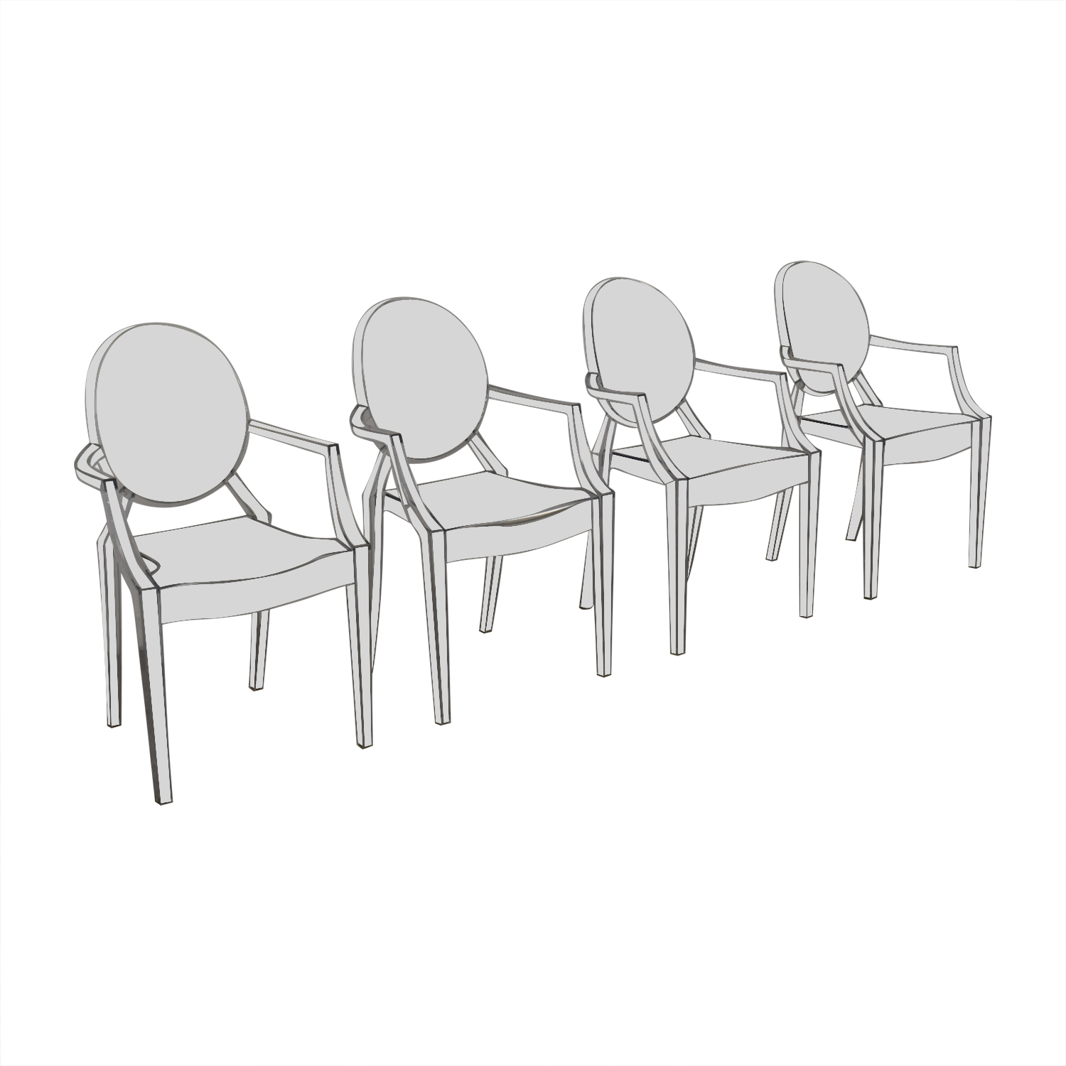 Poly & Bark Poly & Bark Ghost Style Acrylic Arm Chair price