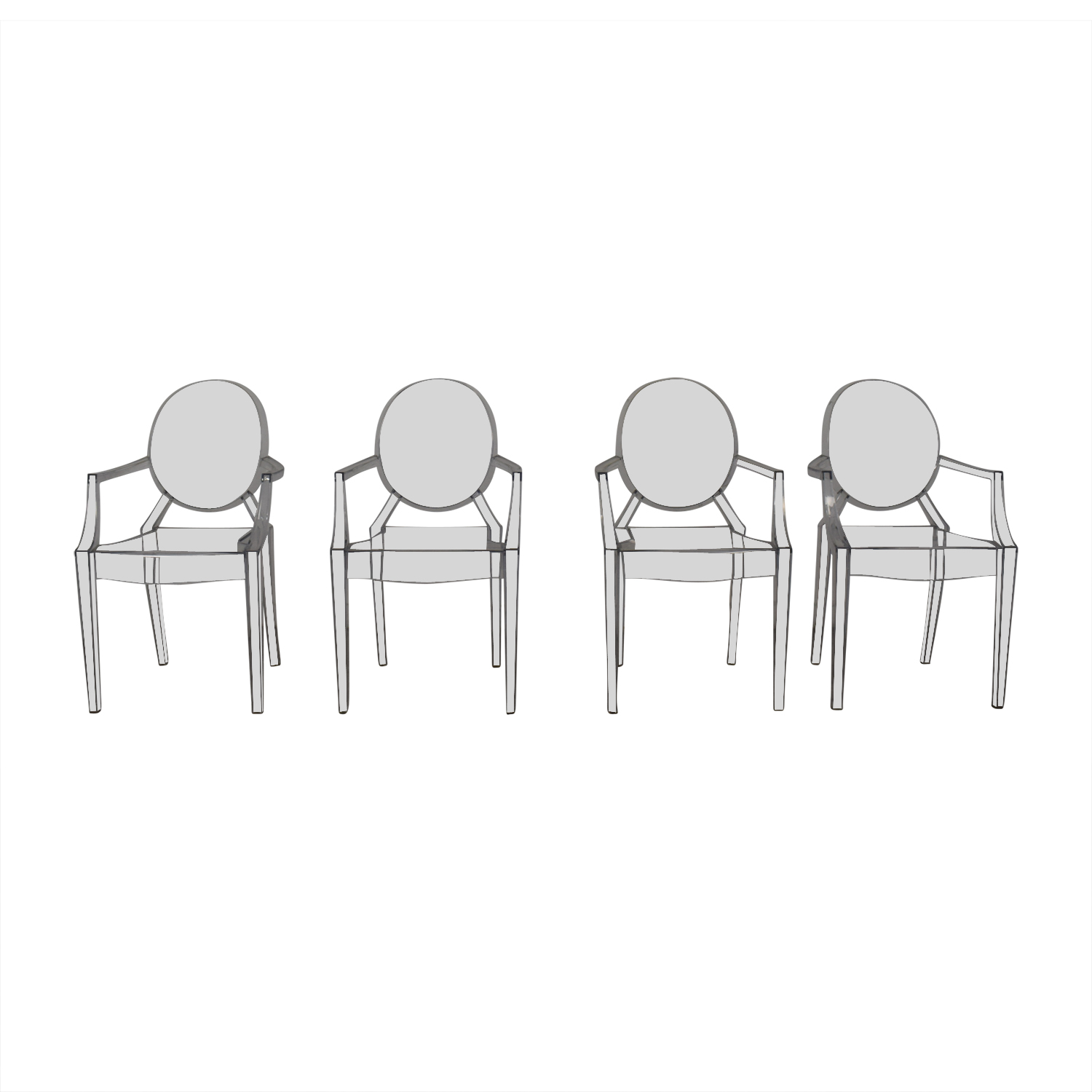 Poly & Bark Poly & Bark Ghost Style Acrylic Arm Chair dimensions