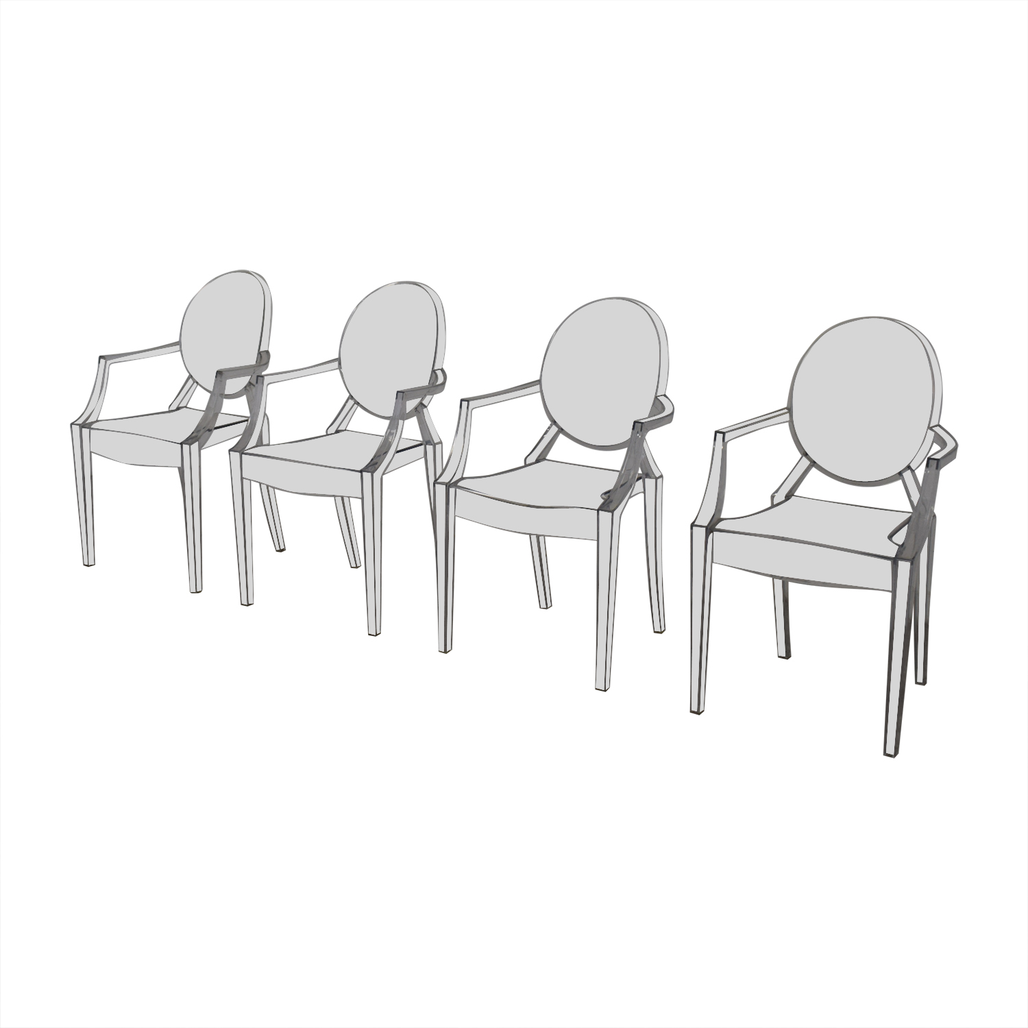 shop Poly & Bark Ghost Style Acrylic Arm Chair Poly & Bark