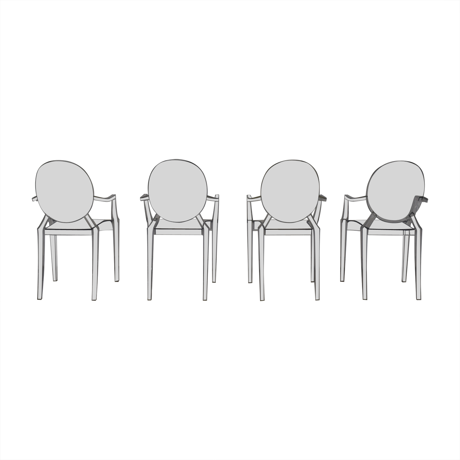Poly & Bark Ghost Style Acrylic Arm Chair / Dining Chairs