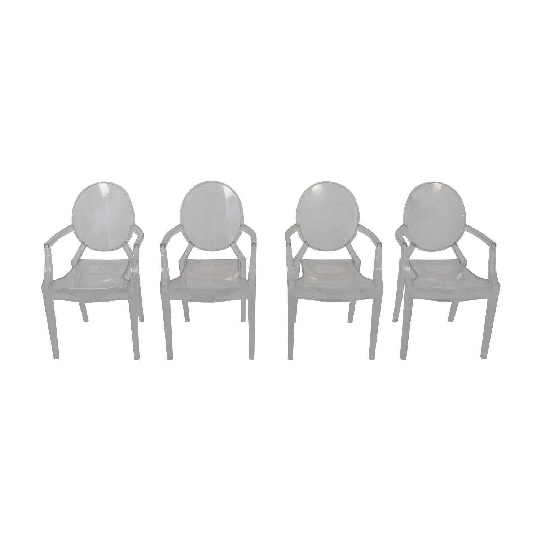 Poly & Bark Ghost Style Acrylic Arm Chair / Chairs