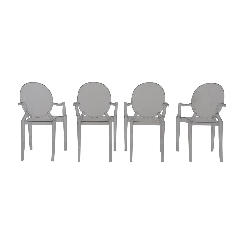 Poly & Bark Poly & Bark Ghost Style Acrylic Arm Chair for sale