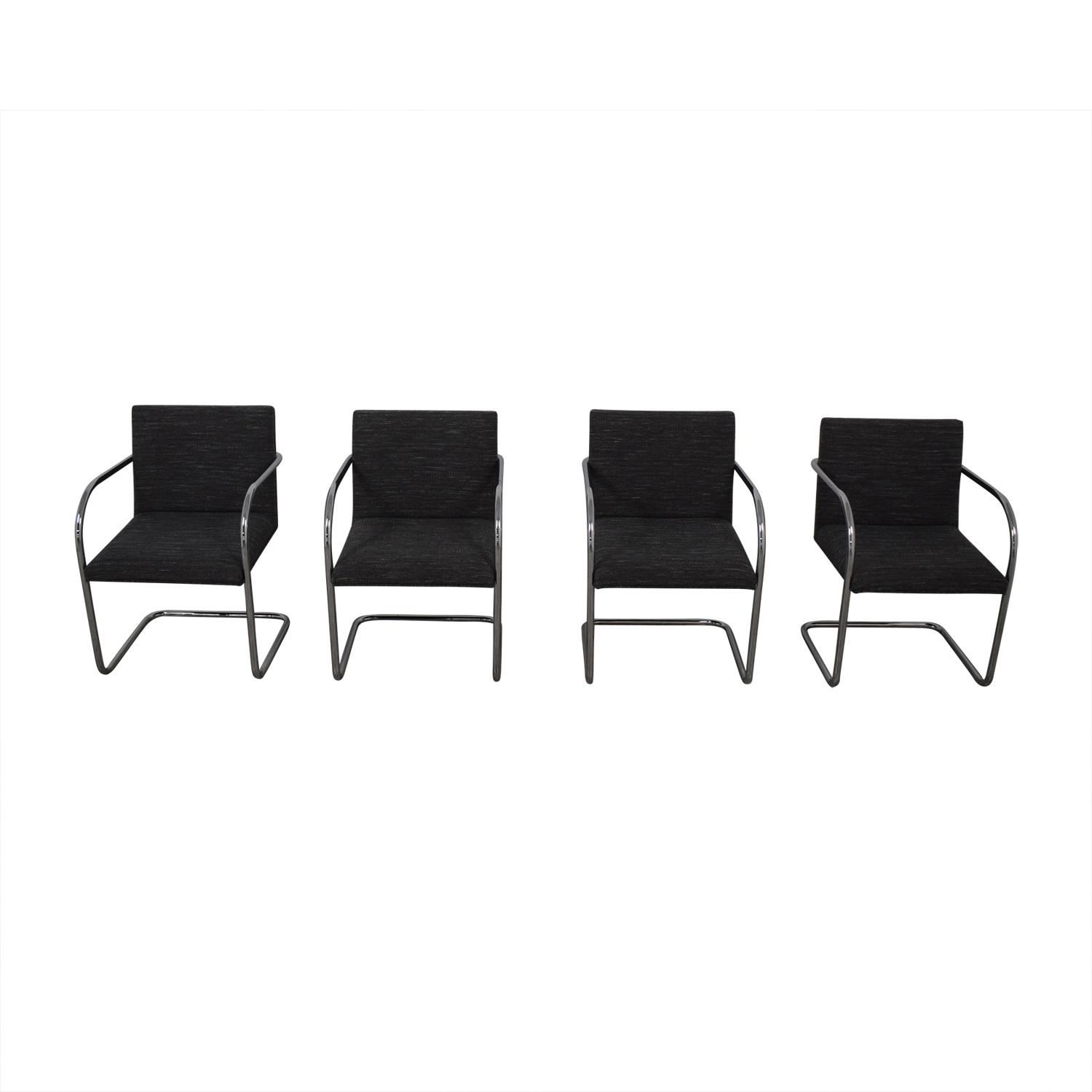 Chrome Upholstered Office Chairs dimensions