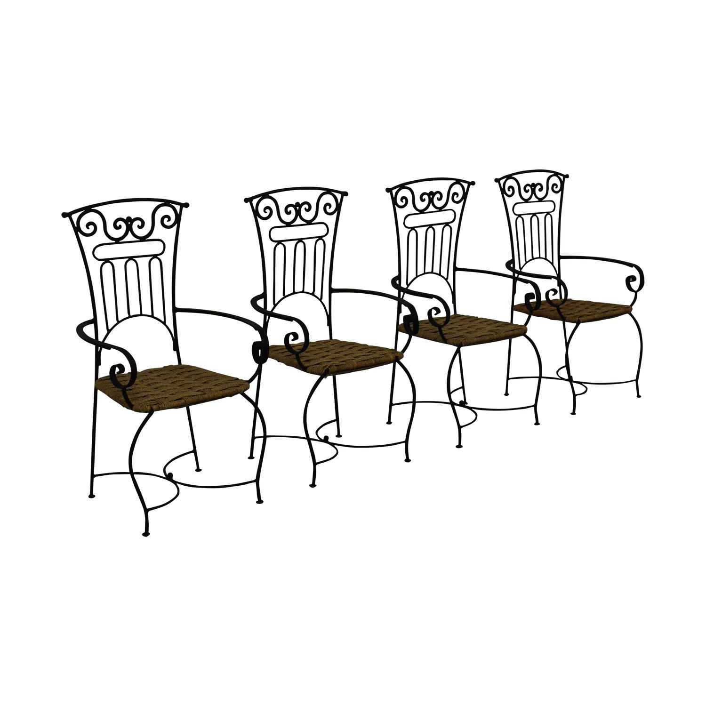 buy  Iron Bistro Chair Set online