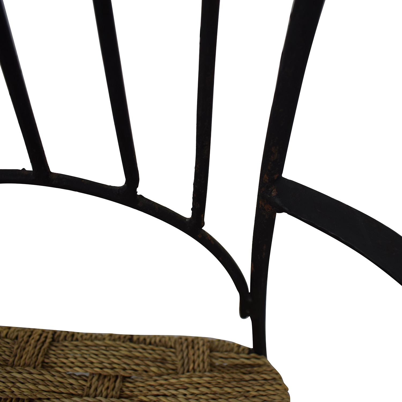 Iron Bistro Chair Set dimensions