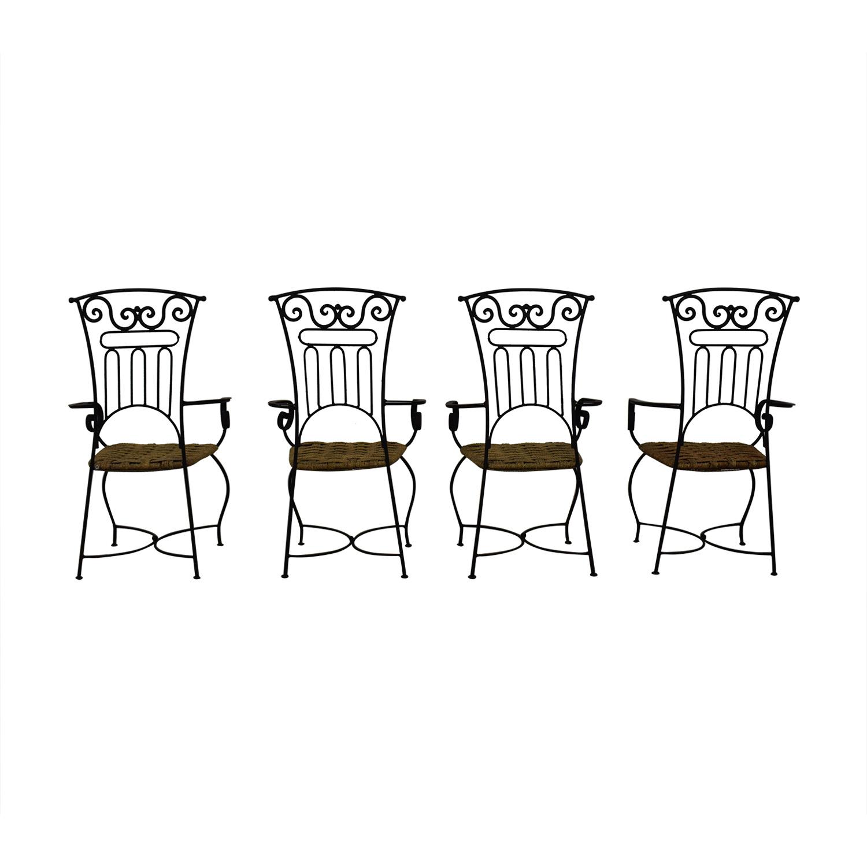 Iron Bistro Chair Set nj