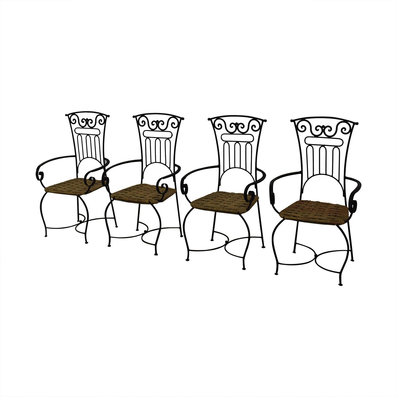 Iron Bistro Chair Set discount