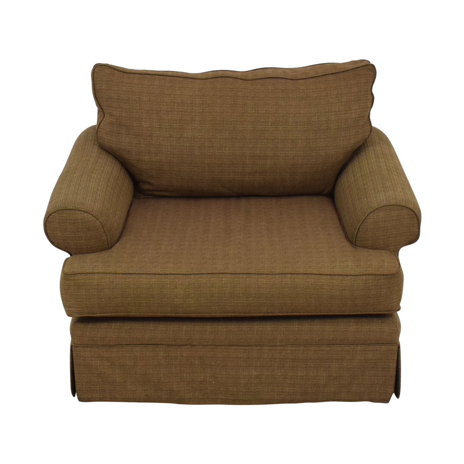 shop Raymour & Flanigan Brown Armchair Raymour & Flanigan Accent Chairs