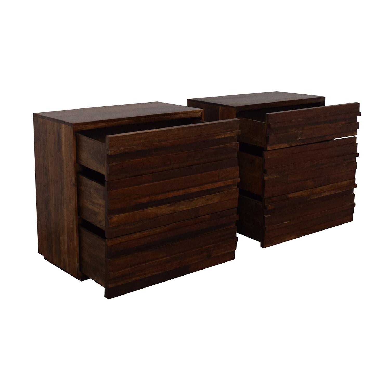 West Elm West Elm Stria Three-Drawer Dressers for sale