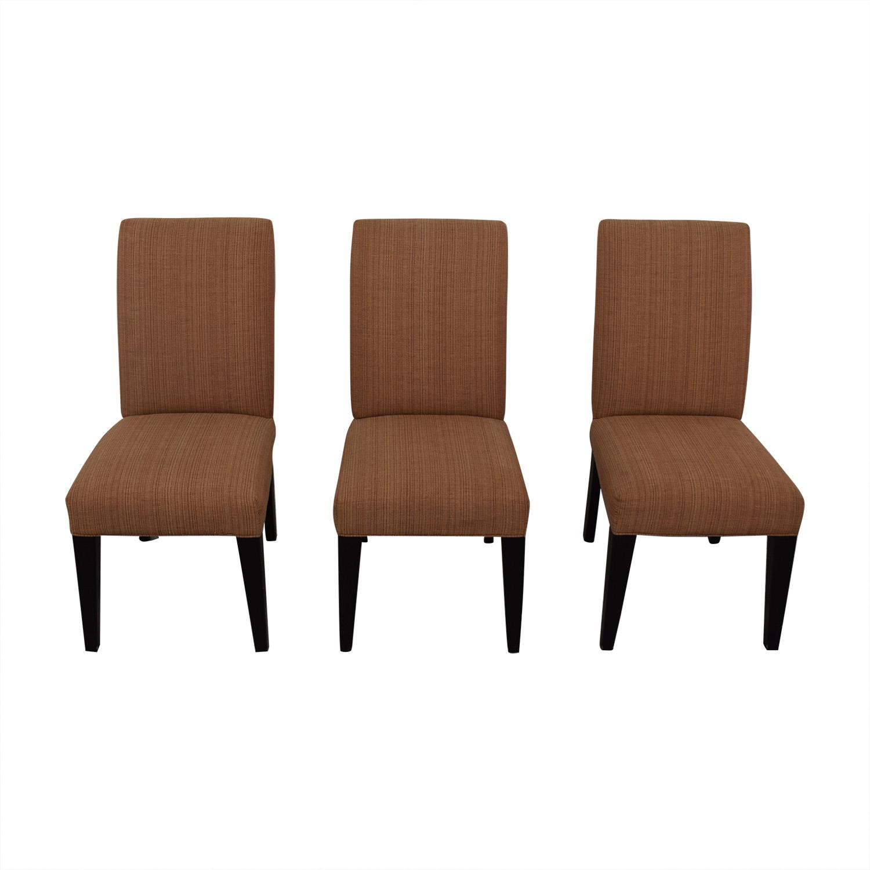 Mitchell Gold + Bob Williams Mitchell Gold + Bob Williams Anthony Side Chairs red/orange stitch pattern