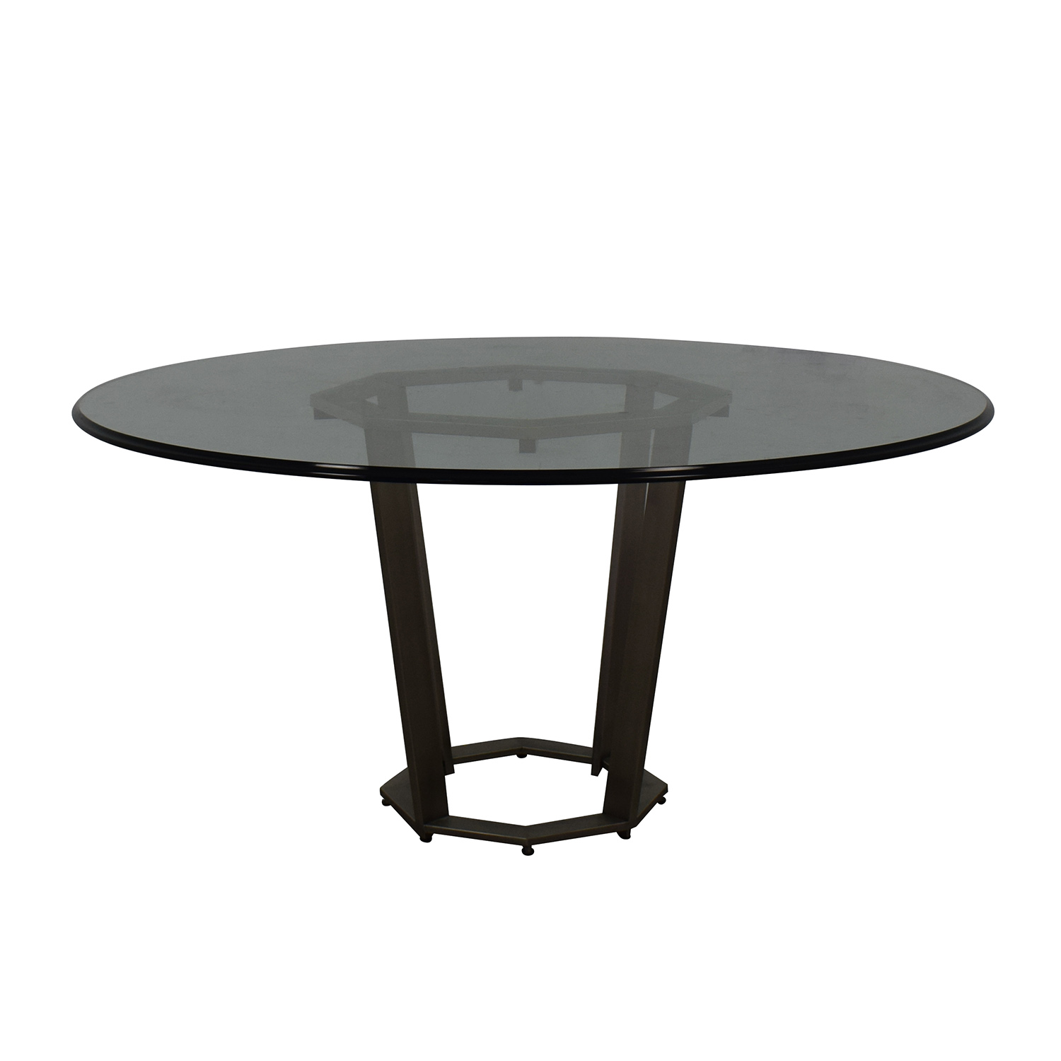 Round Glass Dining Table discount