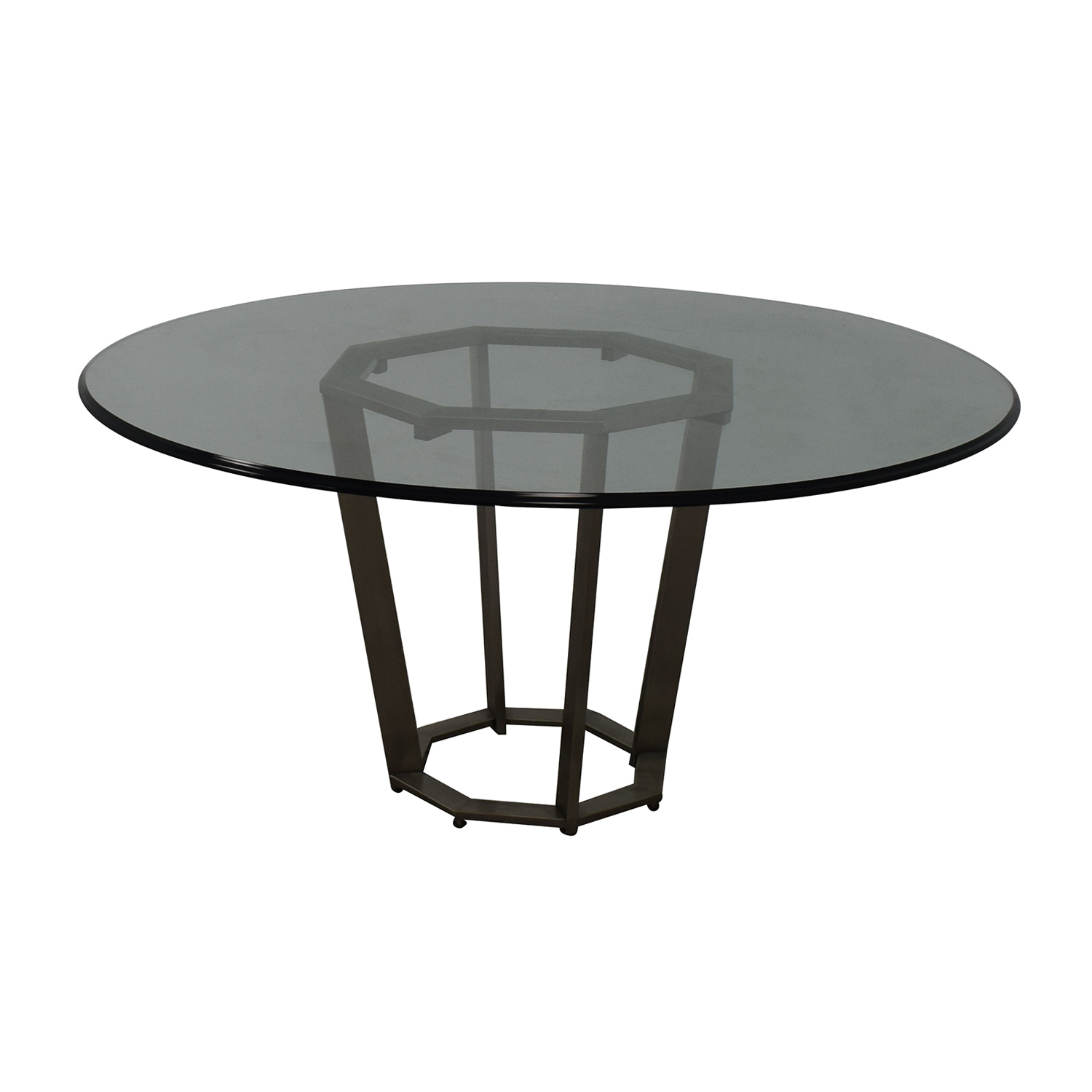 Round Glass Dining Table / Tables