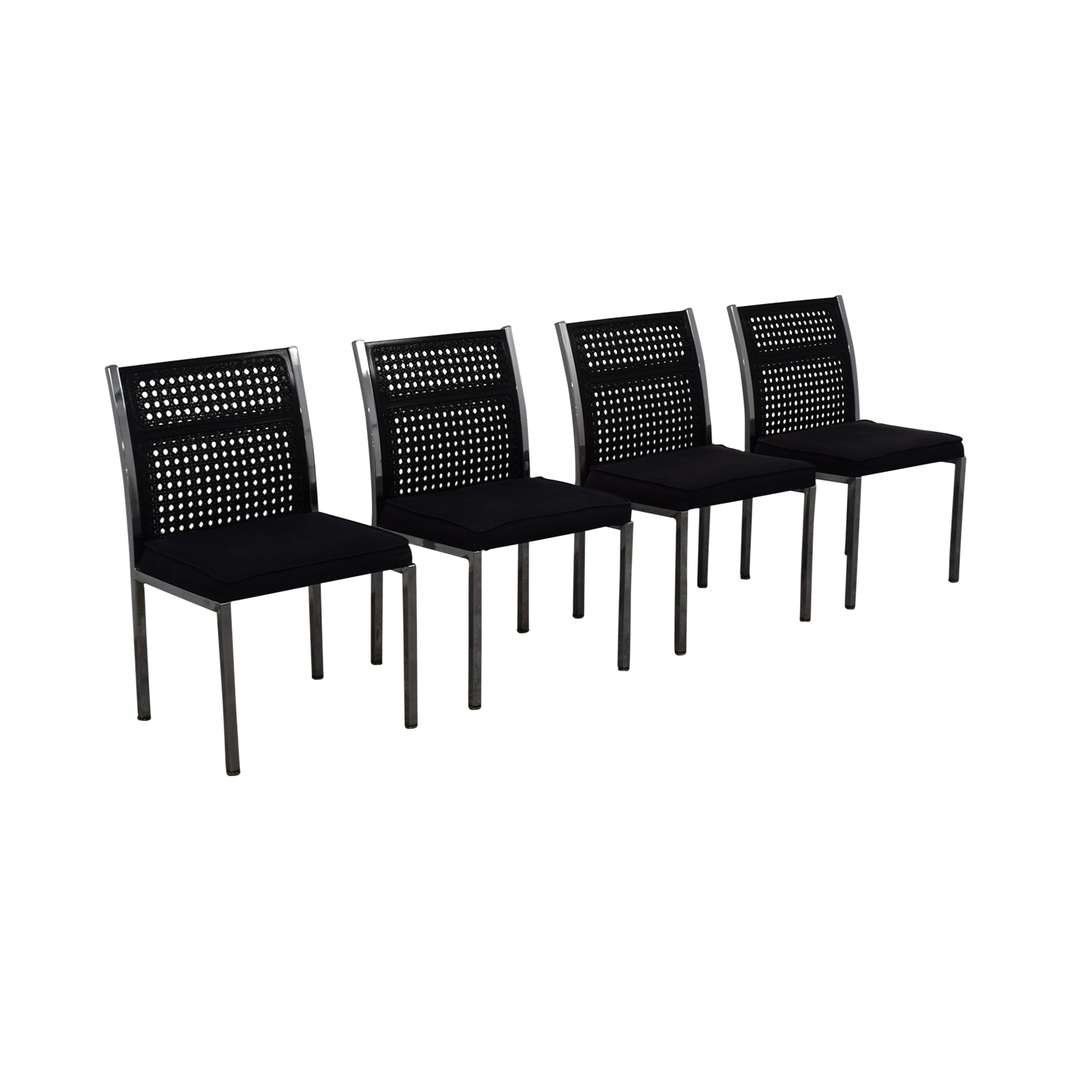 shop By Design Black Cane Back Chairs By Design Chairs