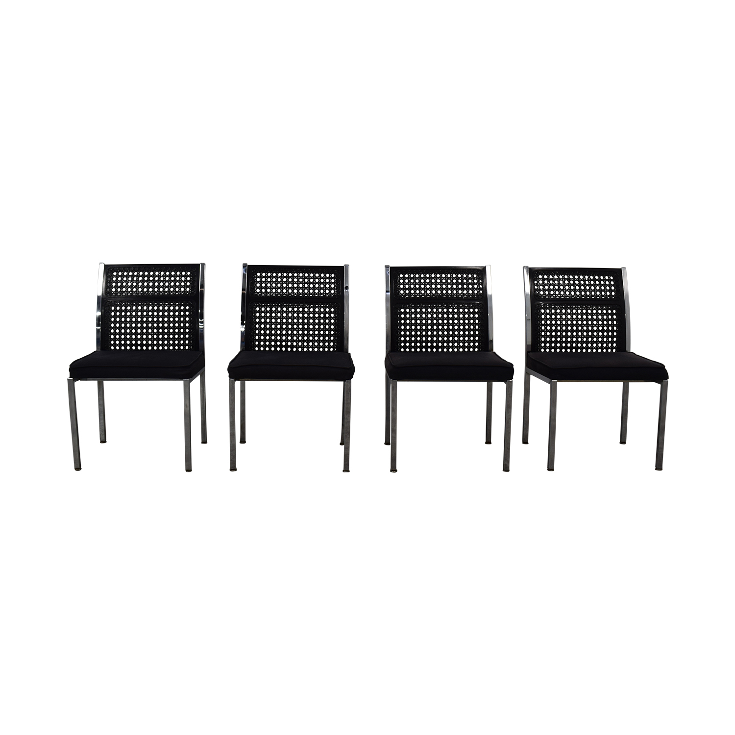 By Design By Design Black Cane Back Chairs price