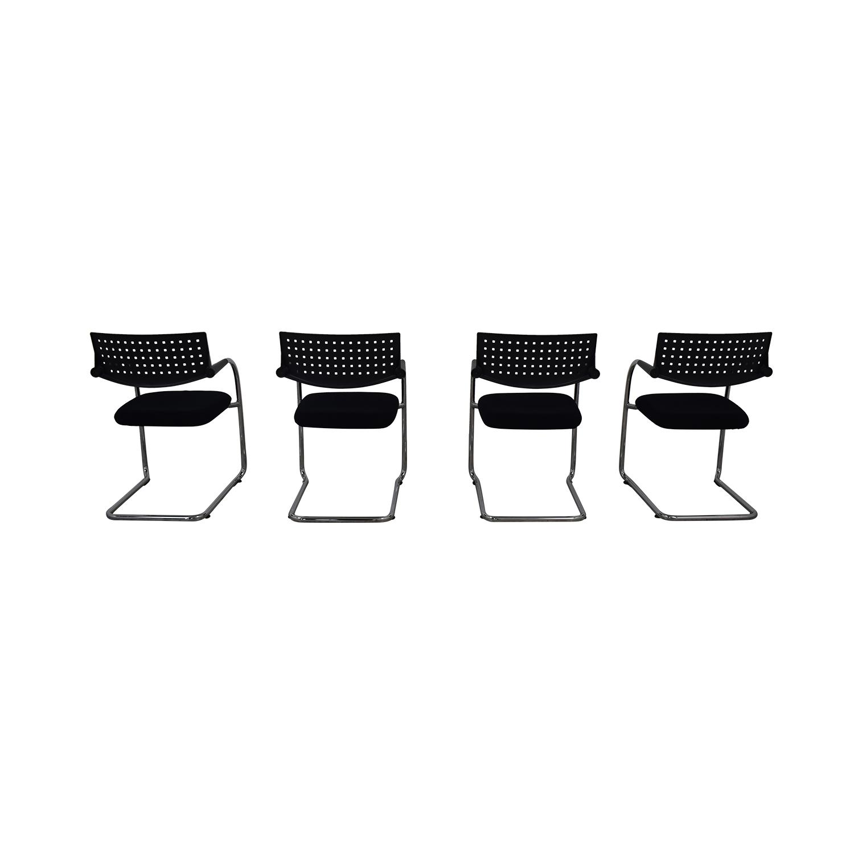 Vitra Vitra Visavis Stackable Chairs black