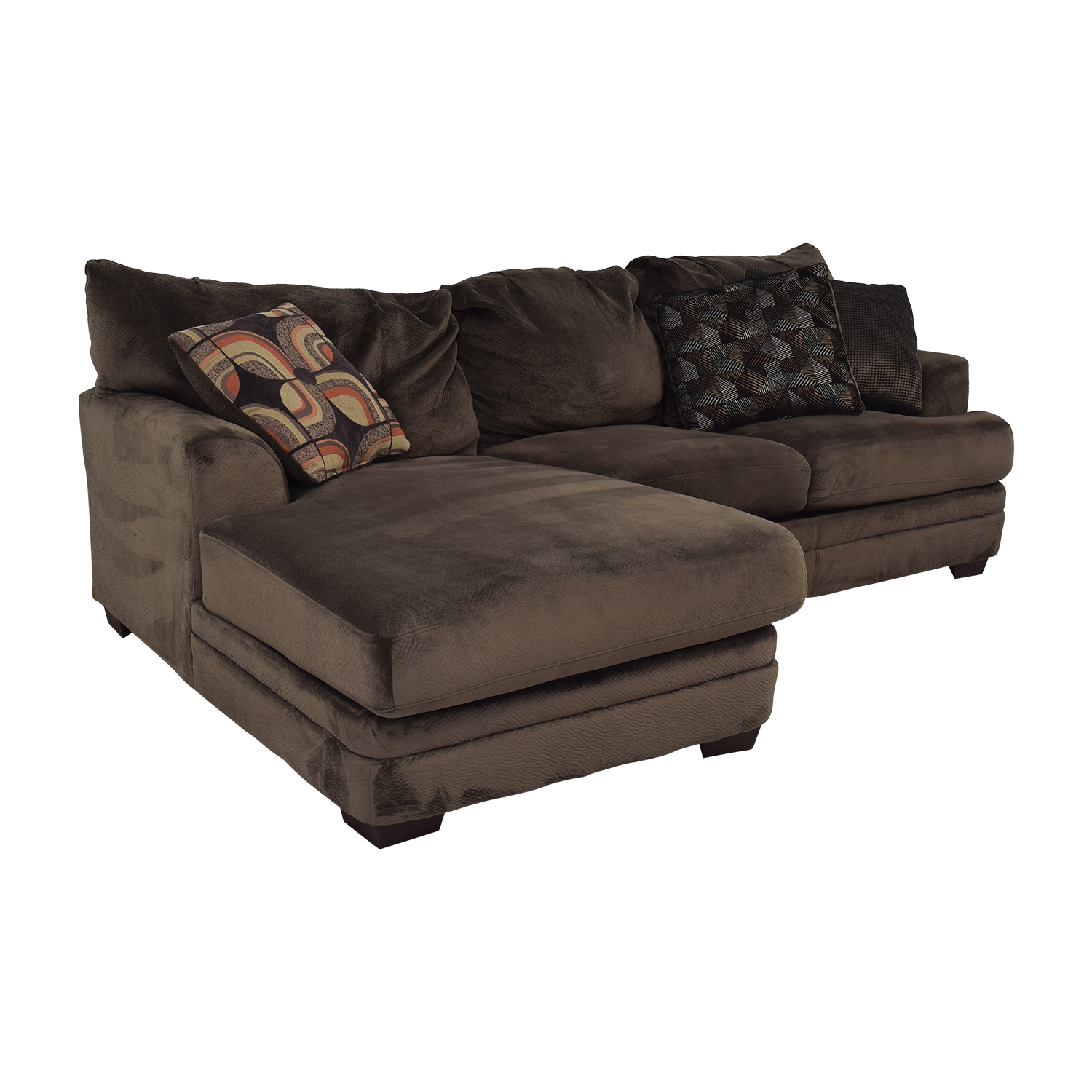 Macy's Macy's Mocha Sectional Couch for sale