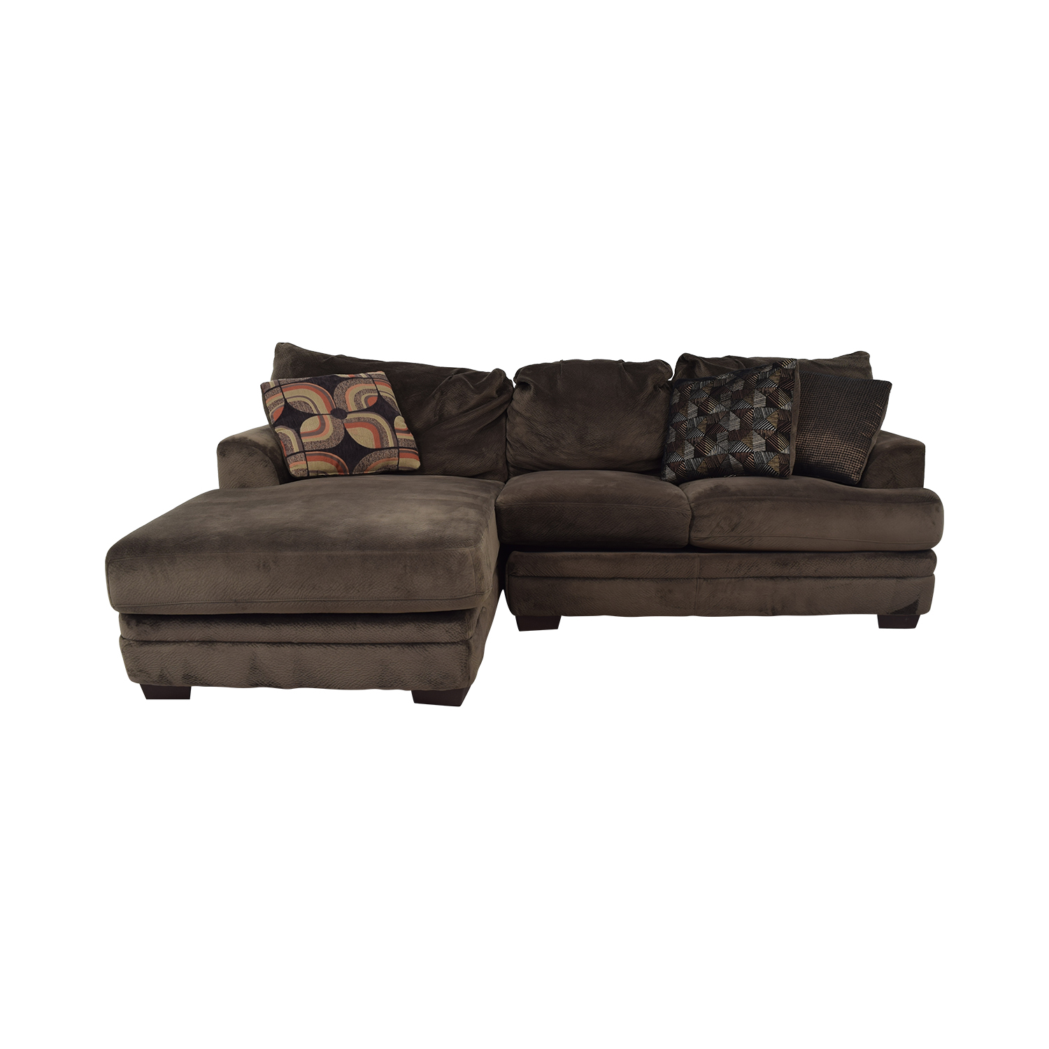 Macy's Mocha Sectional Couch / Sectionals