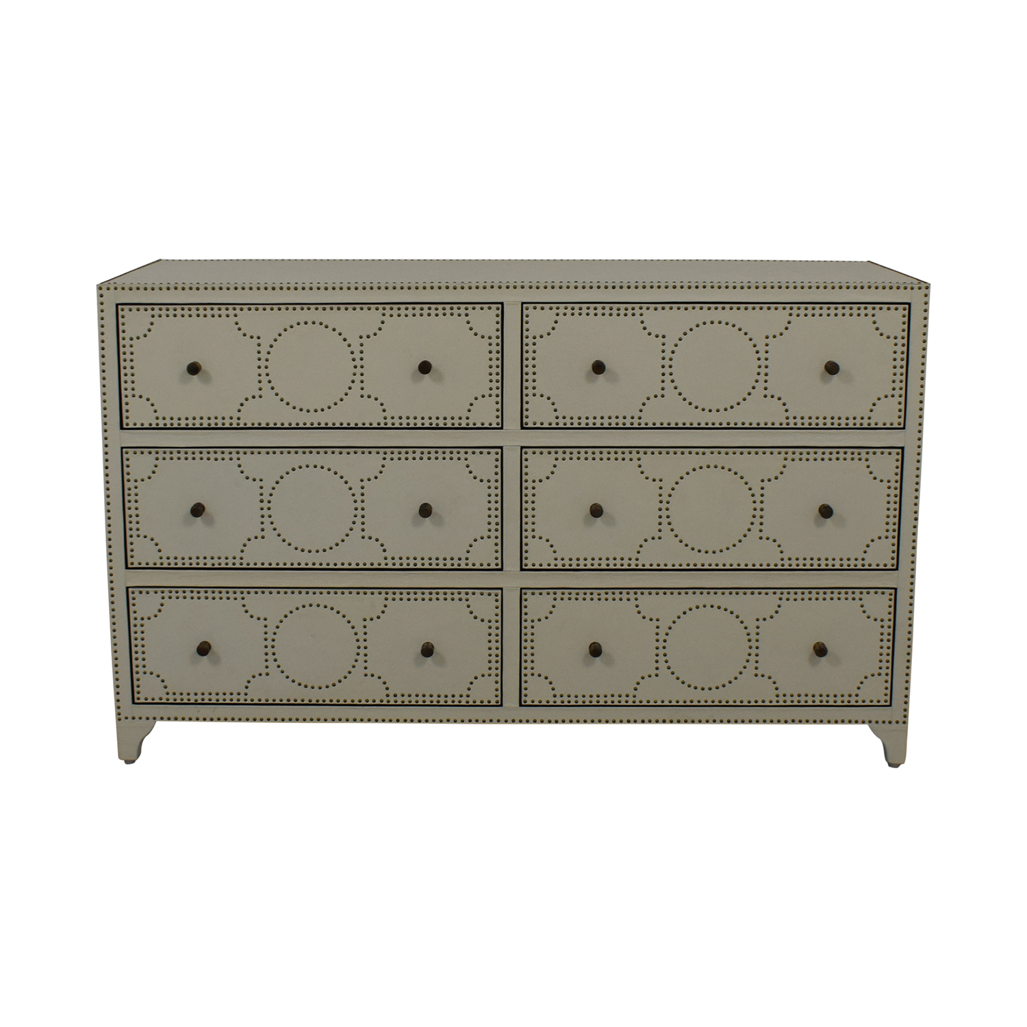 Restoration Hardware Restoration Hardware Nailhead Upholstered Dresser for sale