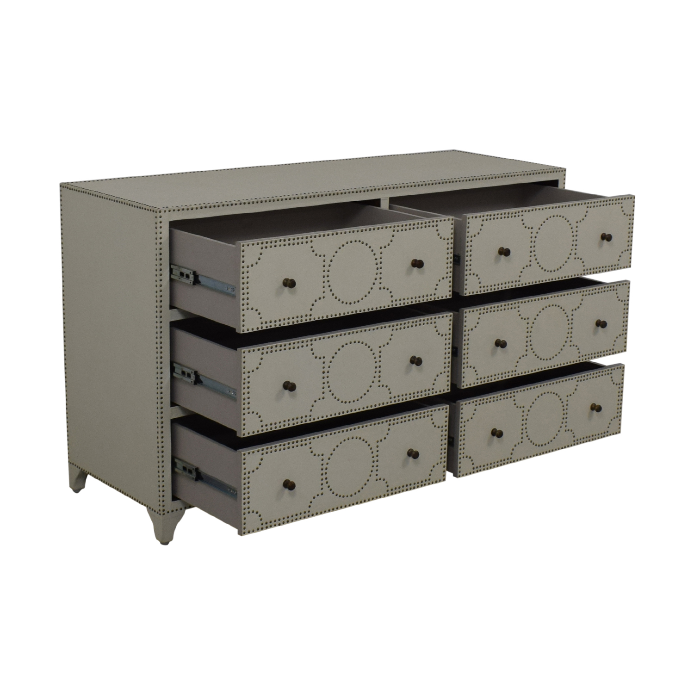 shop Restoration Hardware Nailhead Upholstered Dresser Restoration Hardware