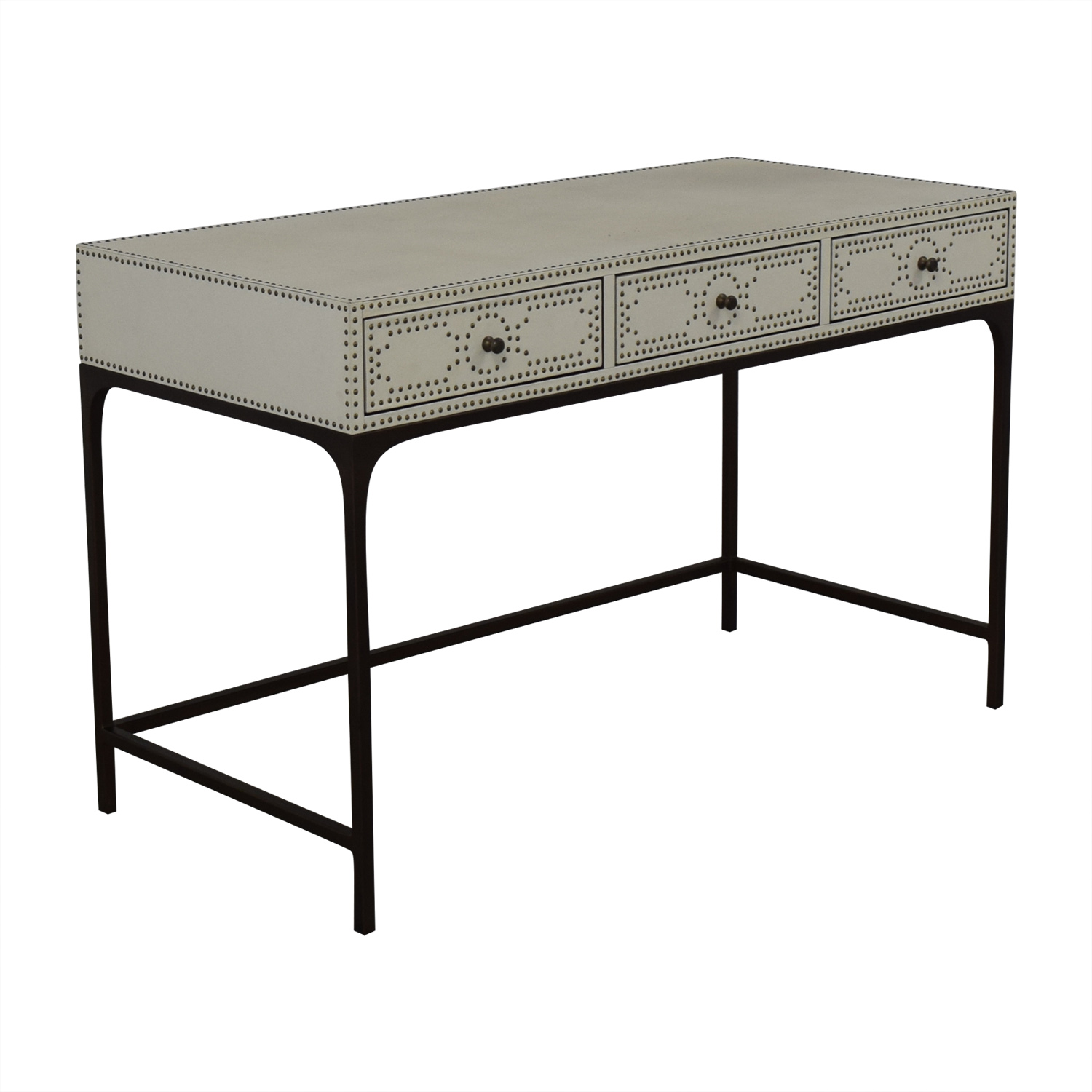 shop Restoration Hardware Nailhead Upholstered Desk Restoration Hardware