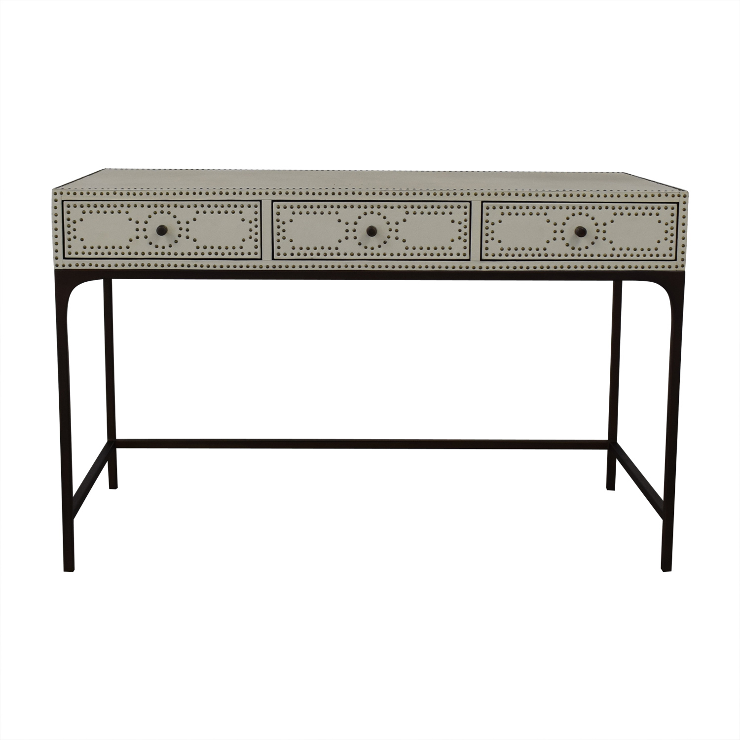 Restoration Hardware Restoration Hardware Nailhead Upholstered Desk used