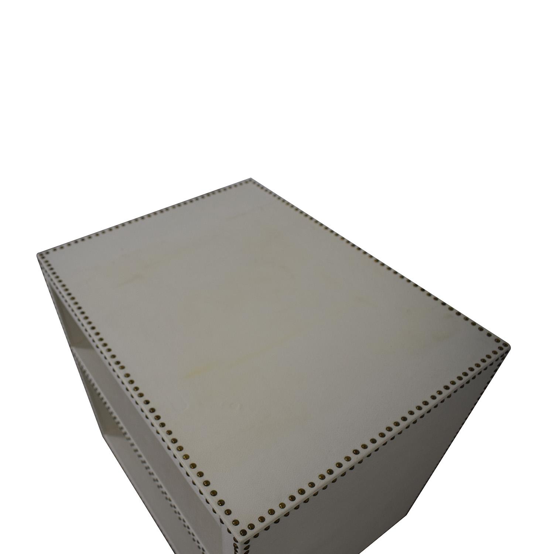 shop Restoration Hardware Nailhead End Table Restoration Hardware