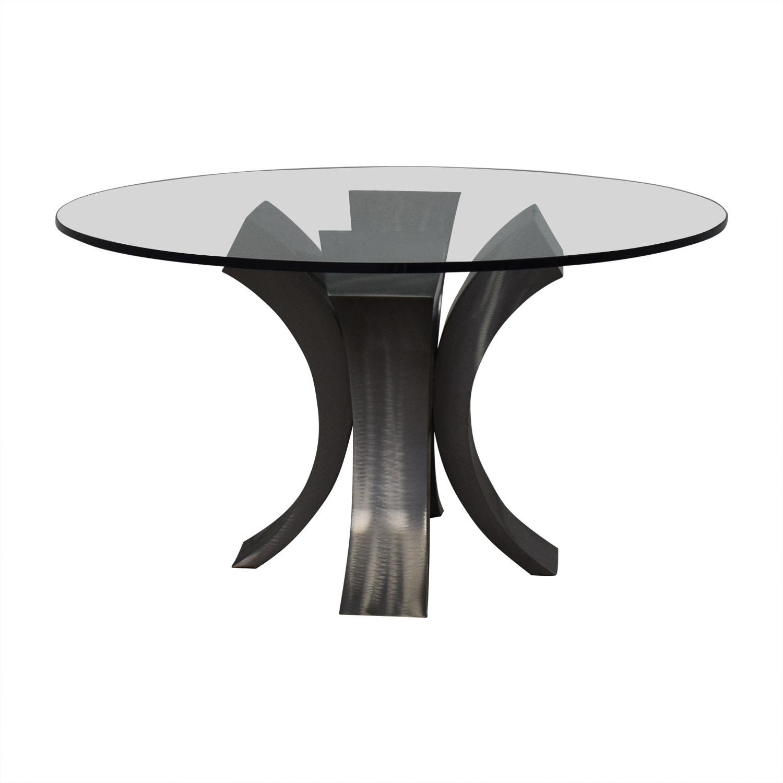 buy Custom Made Glass Dining Table