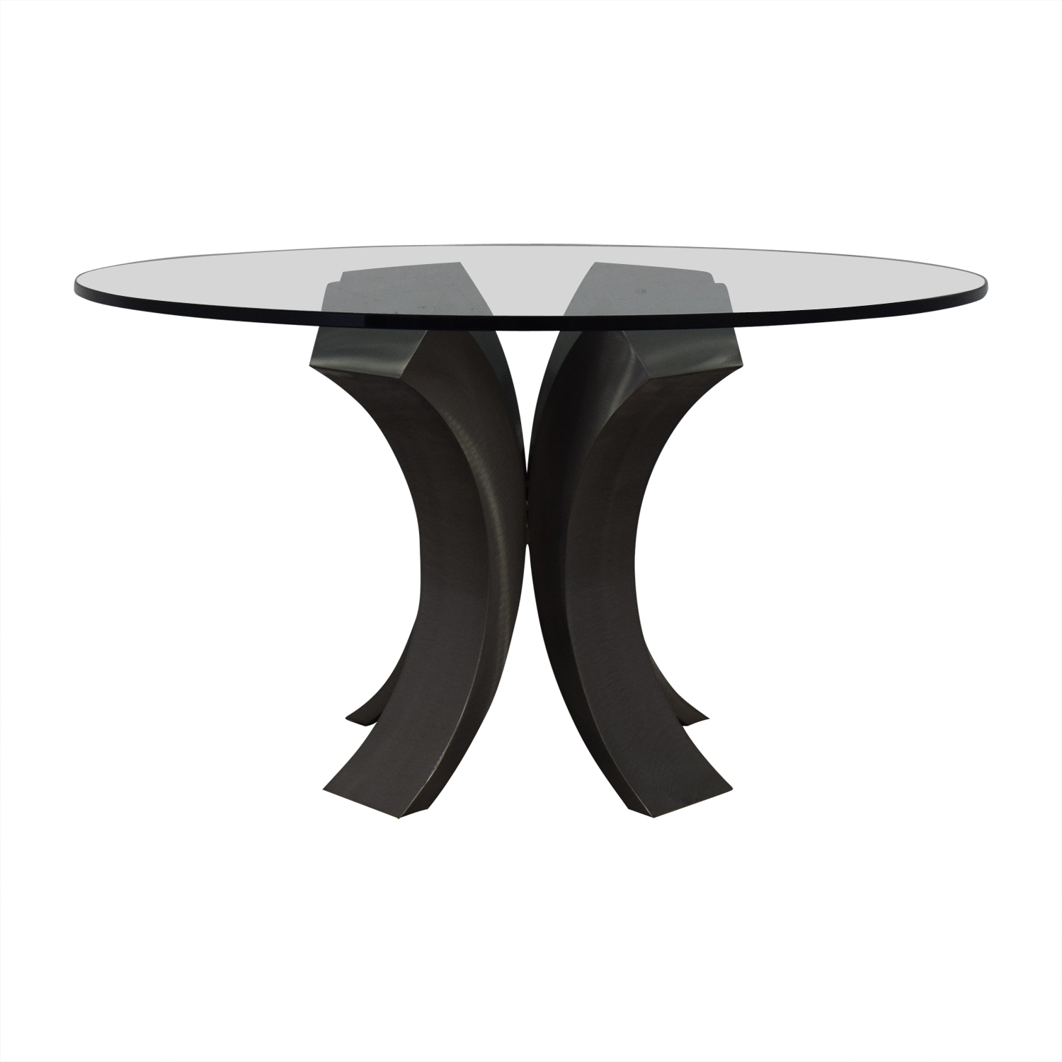 84% OFF - Custom Made Glass Dining Table / Tables