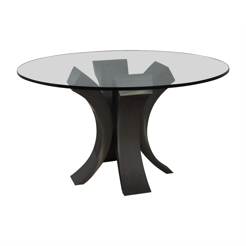 Custom Made Glass Dining Table