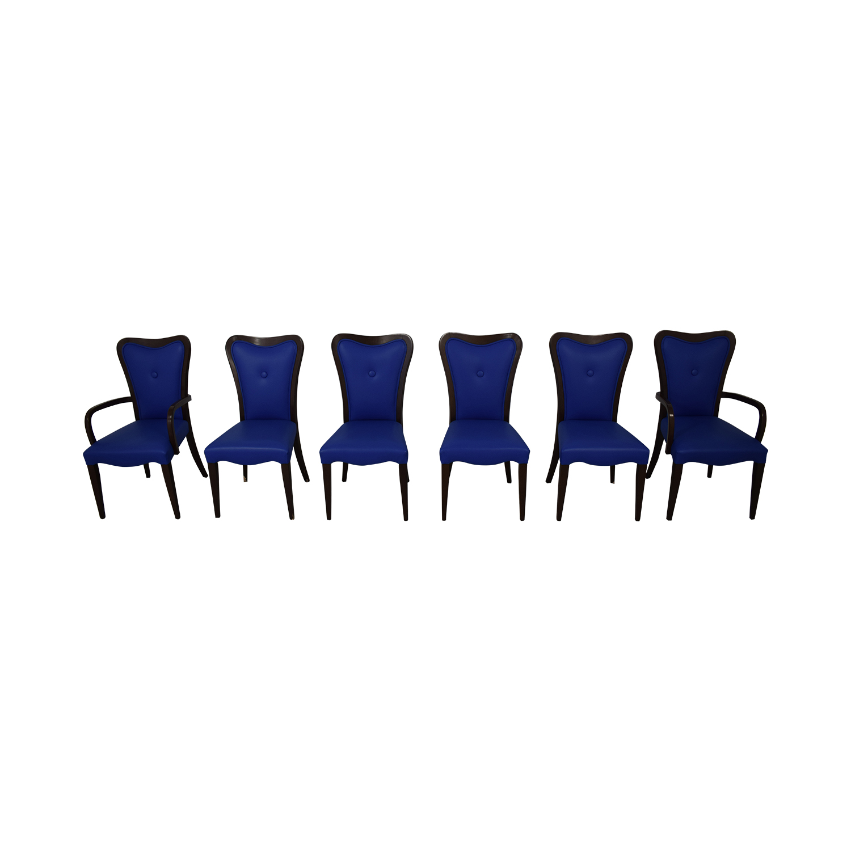 Geoffrey Bradfield Blue Dining Chairs sale