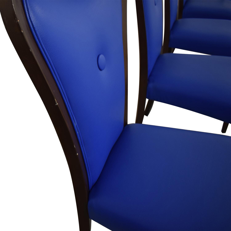Geoffrey Bradfield Geoffrey Bradfield Blue Dining Chairs Dining Chairs