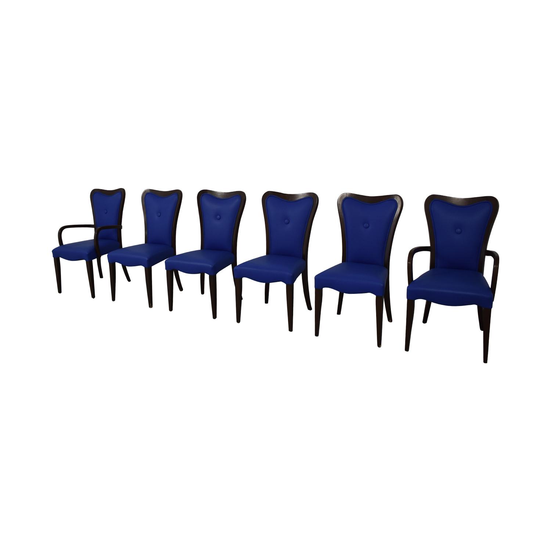Geoffrey Bradfield Geoffrey Bradfield Blue Dining Chairs on sale