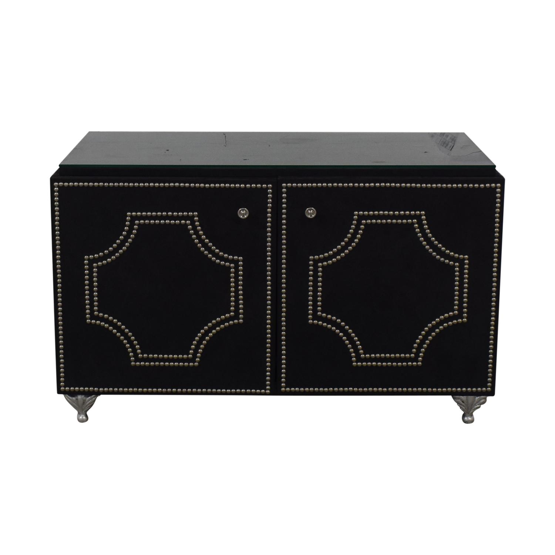 Geoffrey Bradfield Suede Cabinet / Cabinets & Sideboards
