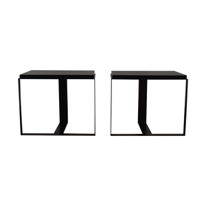 Black Metallic End Tables