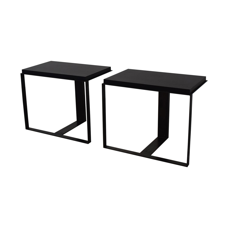 Black Metallic End Tables nj