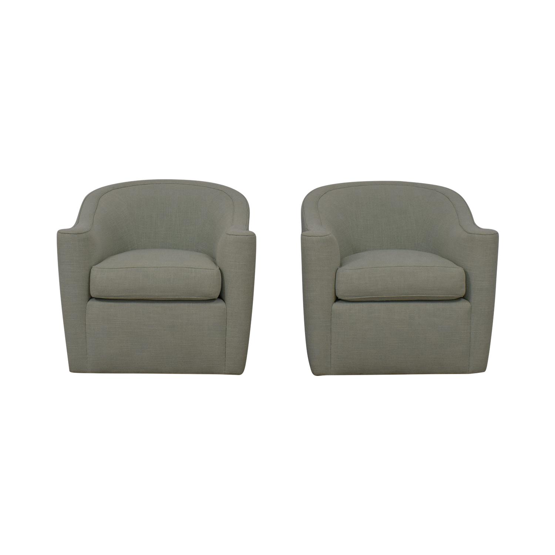 shop Geoffrey Bradfield Swiveling Armchairs Geoffrey Bradfield Accent Chairs